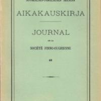 Suomalais-Ugrilaisen Seuran Aikakauskirja 68