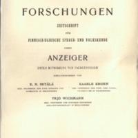 Finnisch-Ugrische Forschungen 18