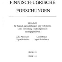 Finnisch-Ugrische Forschungen 53