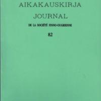 Suomalais-Ugrilaisen Seuran Aikakauskirja 82
