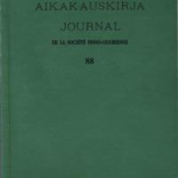 Suomalais-Ugrilaisen Seuran Aikakauskirja 88