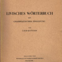 Livisches Wörterbuch mit grammatischer Einleitung