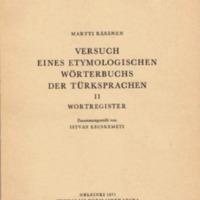 Versuch eines etymologischen Wörterbuchs der Türksprachen II. Wortregister