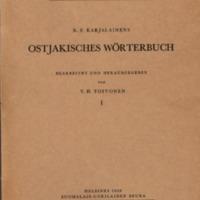 K. F. Karjalainens Ostjakisches Wörterbuch. I–II