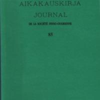 Suomalais-Ugrilaisen Seuran Aikakauskirja 85