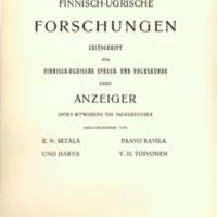 Finnisch-Ugrische Forschungen 22