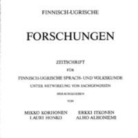 Finnisch-Ugrische Forschungen 50