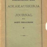 Suomalais-Ugrilaisen Seuran Aikakauskirja 57