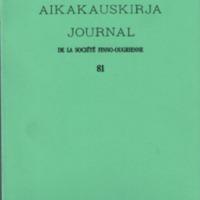 Suomalais-Ugrilaisen Seuran Aikakauskirja 81