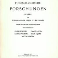 Finnisch-Ugrische Forschungen 39
