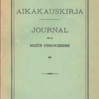 Suomalais-Ugrilaisen Seuran Aikakauskirja 64