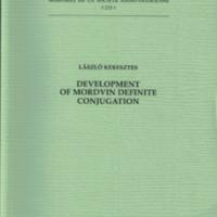 Development of Mordvin definite conjugation (SUST 233)