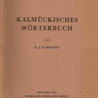 Kalmückisches Wörterbuch