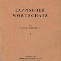 Lappischer Wortschatz. I–II