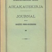 Suomalais-Ugrilaisen Seuran Aikakauskirja 62