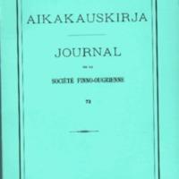 Suomalais-Ugrilaisen Seuran Aikakauskirja 73