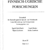 Finnisch-Ugrische Forschungen 55