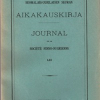 Suomalais-Ugrilaisen Seuran Aikakauskirja 52