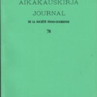 Suomalais-Ugrilaisen Seuran Aikakauskirja 78