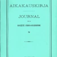 Suomalais-Ugrilaisen Seuran Aikakauskirja 72