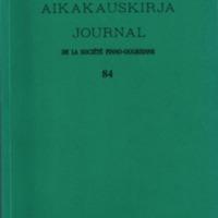 Suomalais-Ugrilaisen Seuran Aikakauskirja 84