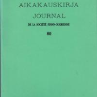 Suomalais-Ugrilaisen Seuran Aikakauskirja 80