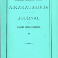 Suomalais-Ugrilaisen Seuran Aikakauskirja 75