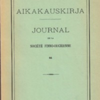 Suomalais-Ugrilaisen Seuran Aikakauskirja 66