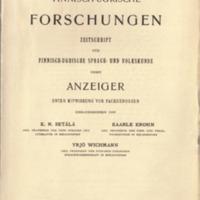 Finnisch-Ugrische Forschungen 15