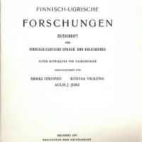 Finnisch-Ugrische Forschungen 41