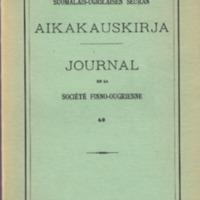 Suomalais-Ugrilaisen Seuran Aikakauskirja 60