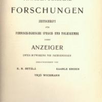 Finnisch-Ugrische Forschungen 20