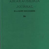 Suomalais-Ugrilaisen Seuran Aikakauskirja 86