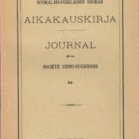 Suomalais-Ugrilaisen Seuran Aikakauskirja 56