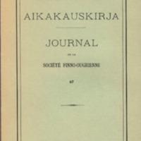 Suomalais-Ugrilaisen Seuran Aikakauskirja 67