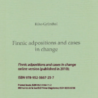 Finnic adpositions and cases in change (SUST 244)