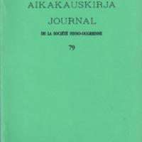 Suomalais-Ugrilaisen Seuran Aikakauskirja 79