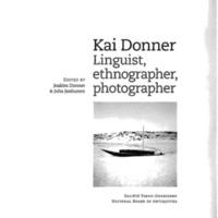Kai Donner. Linguist, ethnographer, photographer