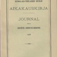 Suomalais-Ugrilaisen Seuran Aikakauskirja 54