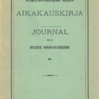 Suomalais-Ugrilaisen Seuran Aikakauskirja 69
