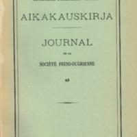Suomalais-Ugrilaisen Seuran Aikakauskirja 65