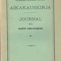 Suomalais-Ugrilaisen Seuran Aikakauskirja 61