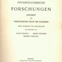 Finnisch-Ugrische Forschungen 33
