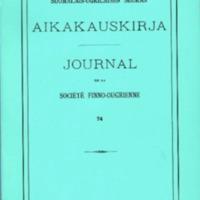 Suomalais-Ugrilaisen Seuran Aikakauskirja 74