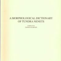 A morphological dictionary of Tundra Nenets