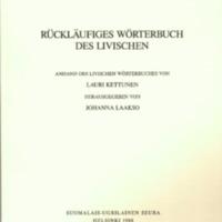 Rückläufiges Wörterbuch des Livischen