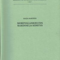 Mordvalaiskielten rakenne ja kehitys (SUST 232)